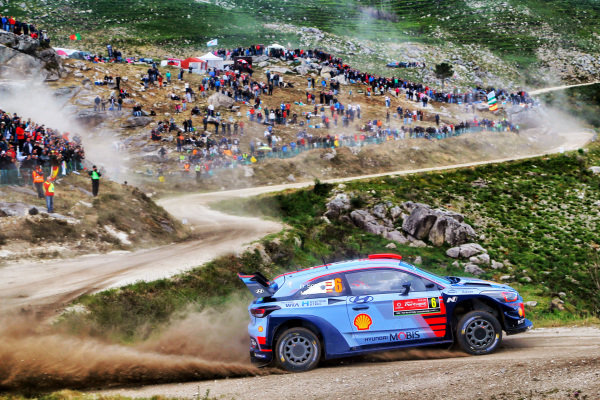 Dani Sordo (ESP) / Marc Marti (ESP), Hyundai Motorsport i20 Coupe WRC at World Rally Championship, Rd6, Rally Portugal, Day One, Matosinhos, Portugal, 19 May 2017.