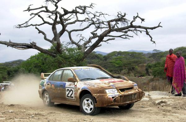 2001 World Rally Championship.Nairobi, Kenya. July 20-22, 2001Pozzo on the final leg.Photo: Ralph Hardwick/LAT