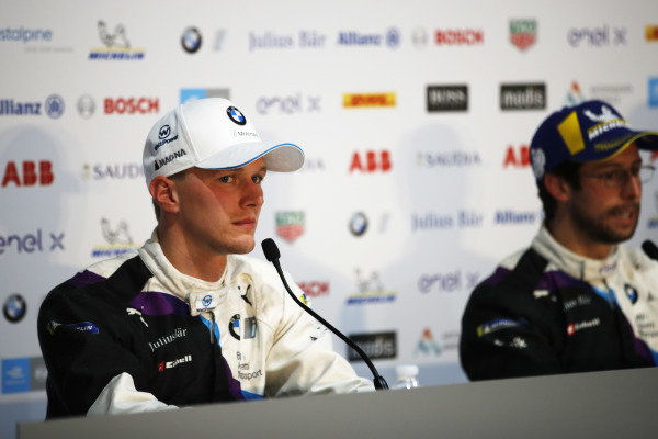 Maximilian Günther (DEU), BMW I Andretti Motorsports, and Alexander Sims (GBR) BMW I Andretti Motorsports, in the press conference