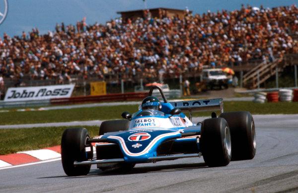 1981 Austrian Grand Prix.Osterreichring, Zeltweg, Austria.14-16 August 1981.Jacques Laffite (Talbot Ligier JS17 Matra) 1st position.Ref-81 AUT 14.World Copyright - LAT Photographic