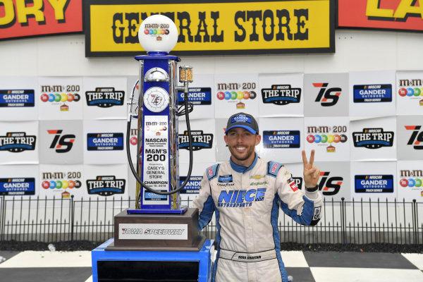 #44: Ross Chastain, Niece Motorsports, Chevrolet Silverado TruNorth/Paul Jr. Designs  #44: Ross Chastain wins the M&M's 200 at Iowa Speedway