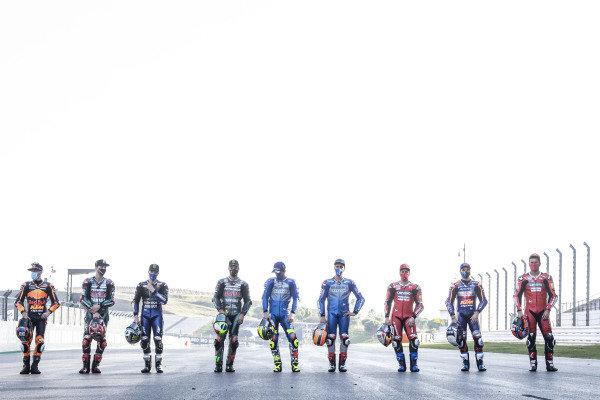Nine winners of 2020: Maverick Vinales, Yamaha Factory Racing, Brad Binder, Red Bull KTM Factory Racing, Franco Morbidelli, Petronas Yamaha SRT, Andrea Dovizioso, Ducati Team, Joan Mir, Team Suzuki MotoGP, Miguel Oliveira, Red Bull KTM Tech 3, Alex Rins, Team Suzuki MotoGP, Danilo Petrucci, Ducati Team, Fabio Quartararo, Petronas Yamaha SRT