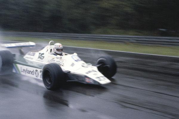 1980 Belgian Grand PrixZolder, Belgium. 2nd - 4th May 1980Alan Jones (Williams FW07B-Ford), 2ndd position.World Copyright: LAT Photographicref: 80Bel01