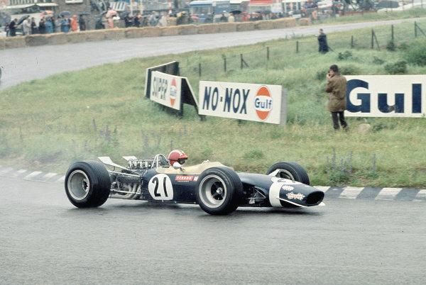 1968 Dutch Grand Prix.Zandvoort, Holland.21-23 June 1968.Jo Siffert (Walker-Durlacher Racing/Lotus 49 Ford).Ref-68 HOL 14.World Copyright - LAT Photographic