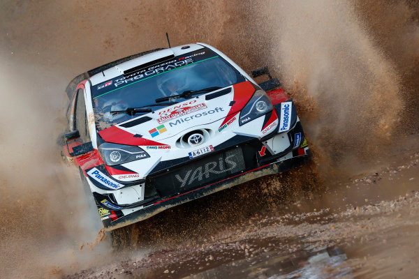Esapekka Lappi throws up some plumes of water from this splash