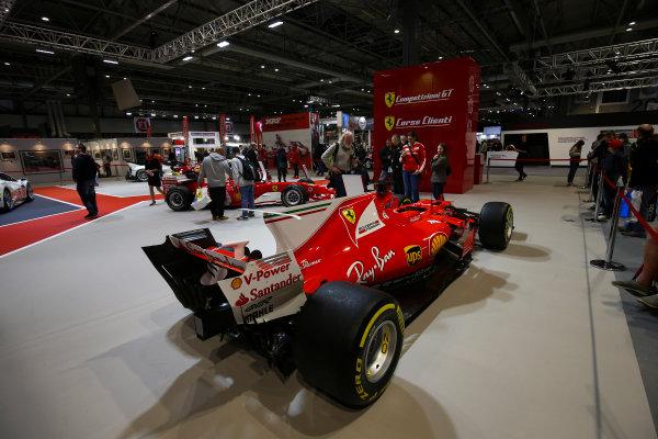 Autosport International Exhibition. National Exhibition Centre, Birmingham, UK. Sunday 14th January 2018. The Ferrari display.World Copyright: Mike Hoyer/JEP/LAT Images Ref: AQ2Y0205