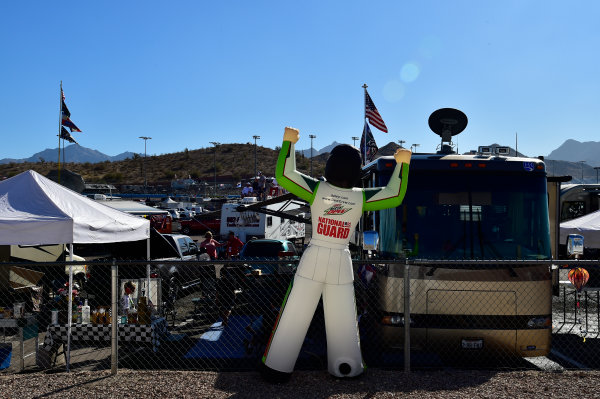 NASCAR XFINITY Series Ticket Galaxy 200 Phoenix Raceway, Avondale, AZ USA Saturday 11 November 2017 Dale Earnhardt Jr, Hendrick Motorsports, Nationwide Chevrolet SS inflatable  World Copyright: Logan Whitton LAT Images