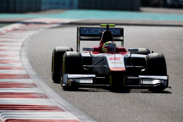 2017 FIA Formula 2 Round 11. Yas Marina Circuit, Abu Dhabi, United Arab Emirates. Friday 24 November 2017. Alex Palou (JPN, Campos Racing).  Photo: Sam Bloxham/FIA Formula 2. ref: Digital Image _W6I2144