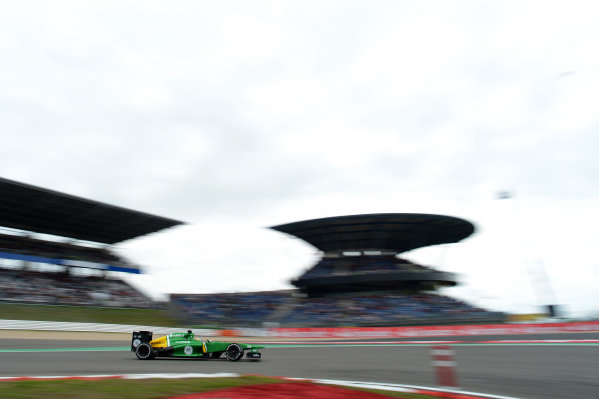 Charles Pic (FRA) Caterham CT03. Formula One World Championship, Rd9, German Grand Prix, Practice, Nurburgring, Germany, Friday 5 July 2013.