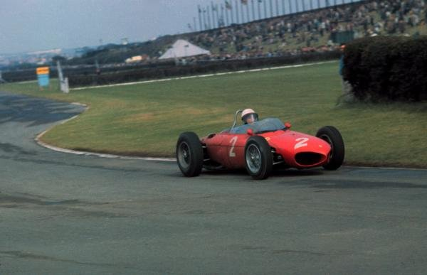 Phil Hill(USA) Ferrari 156, finished 2nd behind team mate Wolfgang von Trips(GER)