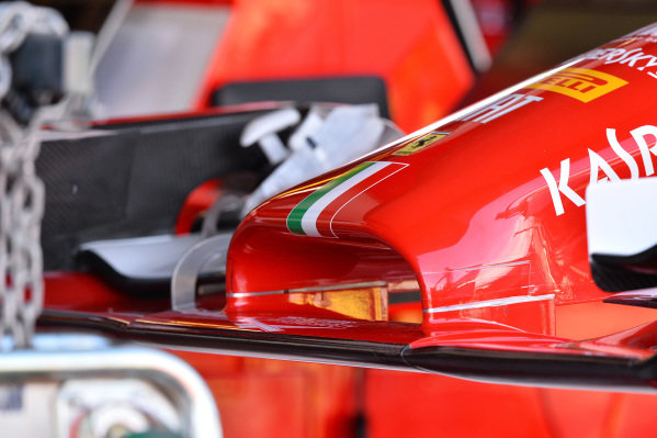 Ferrari F14 T nose detail. Formula One World Championship, Rd1, Australian Grand Prix, Preparations, Albert Park, Melbourne, Australia, Thursday 13 March 2014.
