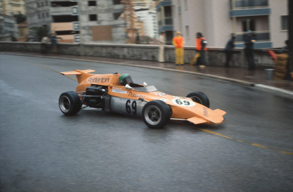 1972 Monaco F3 Grand Prix. Monte Carlo, Monaco. 13th May 1972. Colin Vandervell (Ensign LNF3 - Ford), 3rd position, action.  World Copyright: LAT Photographic.