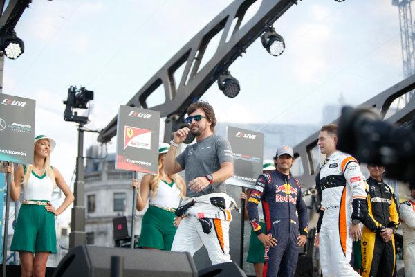 London, United Kingdom.  Wednesday 12 July 2017. Fernando Alonso, McLaren. World Copyright: Joe Portlock/LAT Images  ref: Digital Image _L5R8684
