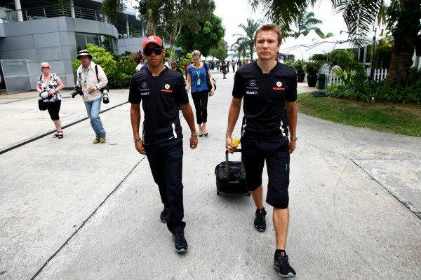 2011 Malaysian Grand Prix - Thursday Sepang, Kuala Lumpur, Malaysia 7th April 2011 Lewis Hamilton (GBR), McLaren Mercedes World Copyright: Andrew Hone / Formula Press / LAT Photographic