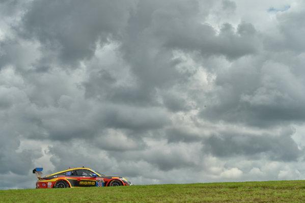 18-20 September,  2014, Austin, Texas USA 30, Porsche, 911 GT America, GTD, Henrique Cisneros, Kuba Giermaziak ©2014, Richard Dole LAT Photo USA