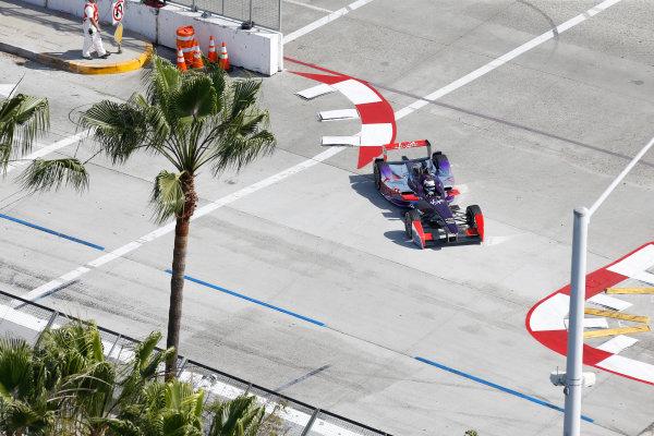 2014/2015 FIA Formula E Championship. Long Beach ePrix, Long Beach, California, United States of America. Friday 3 April 2015 Sam Bird (GBR)/Virgin Racing - Spark-Renault SRT_01E  Photo: Jed Leicester/LAT/Formula E ref: Digital Image _JL20229