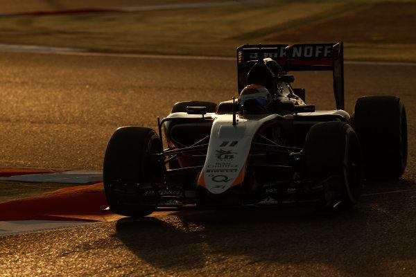 2015 F1 Pre Season Test 3 - Day 4 Circuit de Catalunya, Barcelona, Spain. Thursday  Sunday 1 March 2015. Sergio Perez, Force India VJM08 Mercedes.  World Copyright: Sam Bloxham/LAT Photographic. ref: Digital Image _14P5503