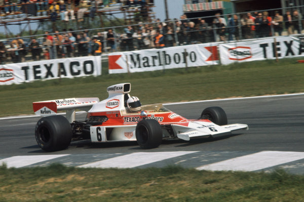 1974 Belgian Grand Prix  Nivelles-Baulers, Belgium. 10-12th May 1974.  Denny Hulme, McLaren M23 Ford, 6th position.  Ref: 74BEL07. World Copyright: LAT Photographic