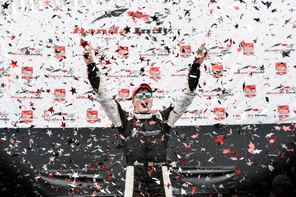 11-14 June, 2015, Toronto, Ontario, Canada Winner Josef Newgarden celebrates in Victory Lane ©2015, Steve Swope LAT Photo USA