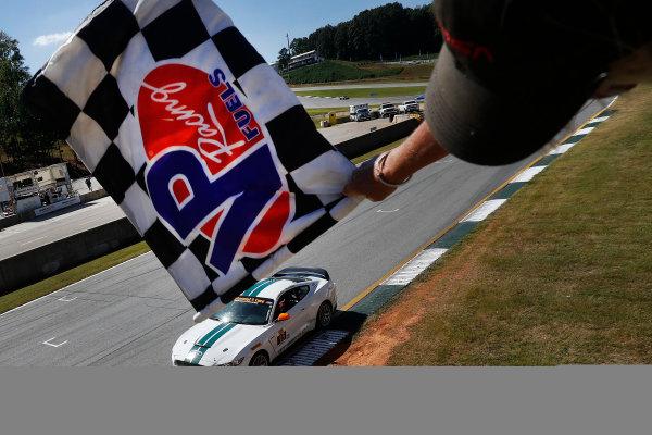 28-30 September, 2016, Braselton, Georgia,  USA , 15, Ford, Shelby GT350R-C, GS, Scott Maxwell, Billy Johnson, checkered flag ?2016, Michael L. Levitt LAT Photo USA