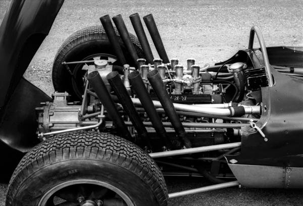 A BRM V8 engine.