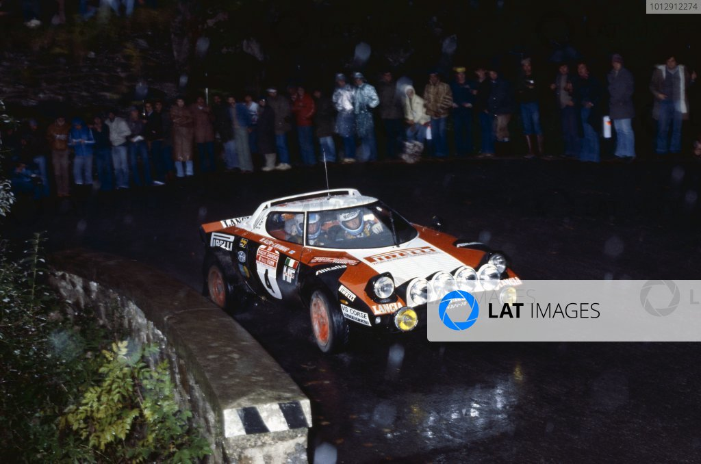 1978 World Rally Championship. Sanremo Rally, Italy. 3-7 October 1978. Markku Alen/Ilkka Kivimaki (Lancia Stratos), 1st position. World Copyright: LAT Photographic Ref: 35mm transparency 78RALLY07