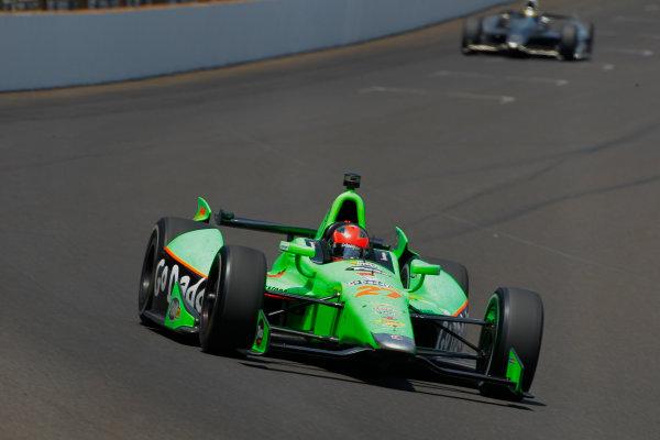 27 May, 2012, Indianapolis, Indiana, USAJames Hinchcliffe leads Sebastien Bourdais.(c)2012, Phillip AbbottLAT Photo USA