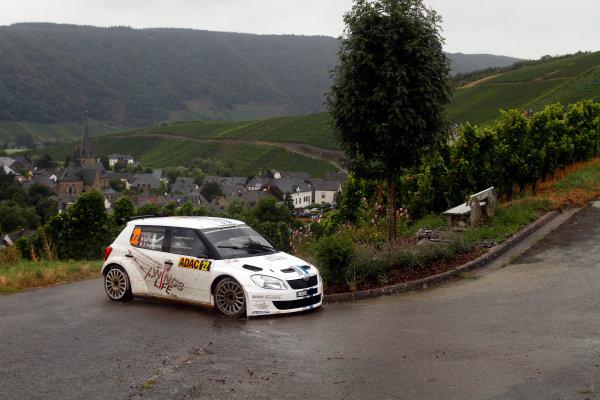 Round 09-Rallye Deutschland 23-26/8-2012.Sebastien Ogier, Skoda S2000, Action.Worldwide Copyright: McKlein/LAT