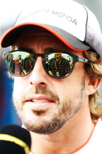 Hockenheim, Germany. Thursday 28 July 2016. Fernando Alonso, McLaren. World Copyright: Andy Hone/LAT Photographic ref: Digital Image _ONZ4878