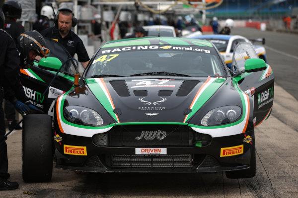 2016 British GT Championship,  11th-12th June 2016, SIlverstone, UK, Kieran Griffin / Jake Giddings JW Bird Motorsport Aston Martin Vantage GT4  World copyright. Ebrey/LAT Photographic