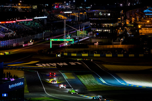2016 Le Mans 24 Hours. Circuit de la Sarthe, Le Mans, France. Sunday 19 June 2016. A view of the Ford Chicane and start/finish straight during the race. World Copyright: Zak Mauger/LAT Photographic ref: Digital Image _79P8322