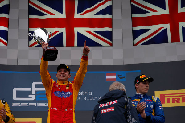 2016 GP2 Series Round 4 Red Bull Ring, Spielberg, Austria. Sunday 3 July 2016.Jordan King (GBR, Racing Engineering)  Photo: Sam Bloxham/GP2 Series Media Service. ref: Digital Image _SLA9933