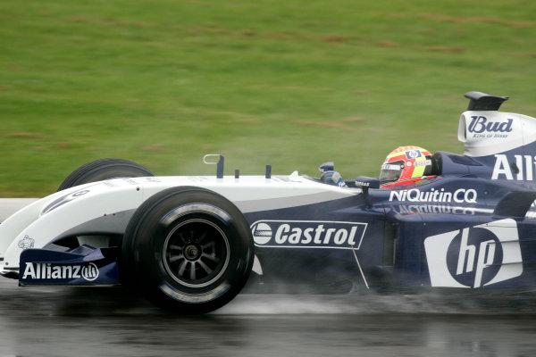 2004 Formula One TestingSilverstone, England. 1st June 2004.Antonio Pizzonia, BMW Williams FW26, action.World Copyright: Glenn Dunbar/LAT Photographicref: Digital Image Only