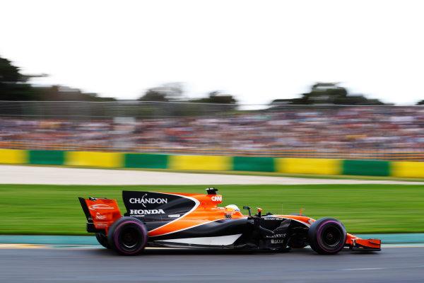 Albert Park, Melbourne, Australia. Saturday 25 March 2017. Fernando Alonso, McLaren MCL32 Honda.  World Copyright: Steven Tee/LAT Images ref: Digital Image _O3I2158