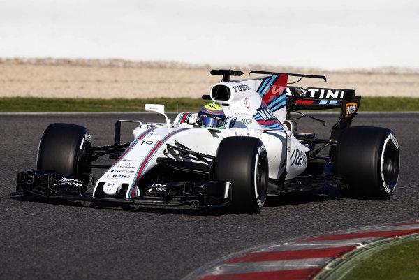 Circuit de Barcelona Catalunya, Barcelona, Spain. Tuesday 07 March 2017. Felipe Massa, Williams FW40 Mercedes. World Copyright: Glenn Dunbar/LAT Images ref: Digital Image _31I5302