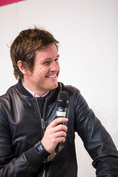 Autosport International Exhibition. National Exhibition Centre, Birmingham, UK. Sunday 15 January 2017. Rob Smedley (Rob Smedley, Head of Vehicle Performance, Williams Martini Racing), is interviewed on the Autosport Stage Photo: Sam Bloxham/LAT Photographic ref: Digital Image _SLA6256