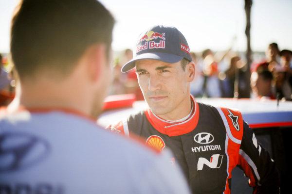 Dani Sordo (ESP), Hyundai Motorsport WRC at World Rally Championship, Rd5, Rally Argentina, Day Two, Villa Carlos Paz, Cordoba, Argentina, 29 April 2017.