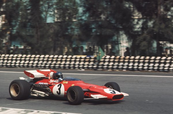 1970 Mexican Grand Prix.Mexico City, Mexico.23-25 October 1970.Jacky Ickx (Ferrari 312B) 1st position.Ref-70 MEX 54.World Copyright - LAT Photographic