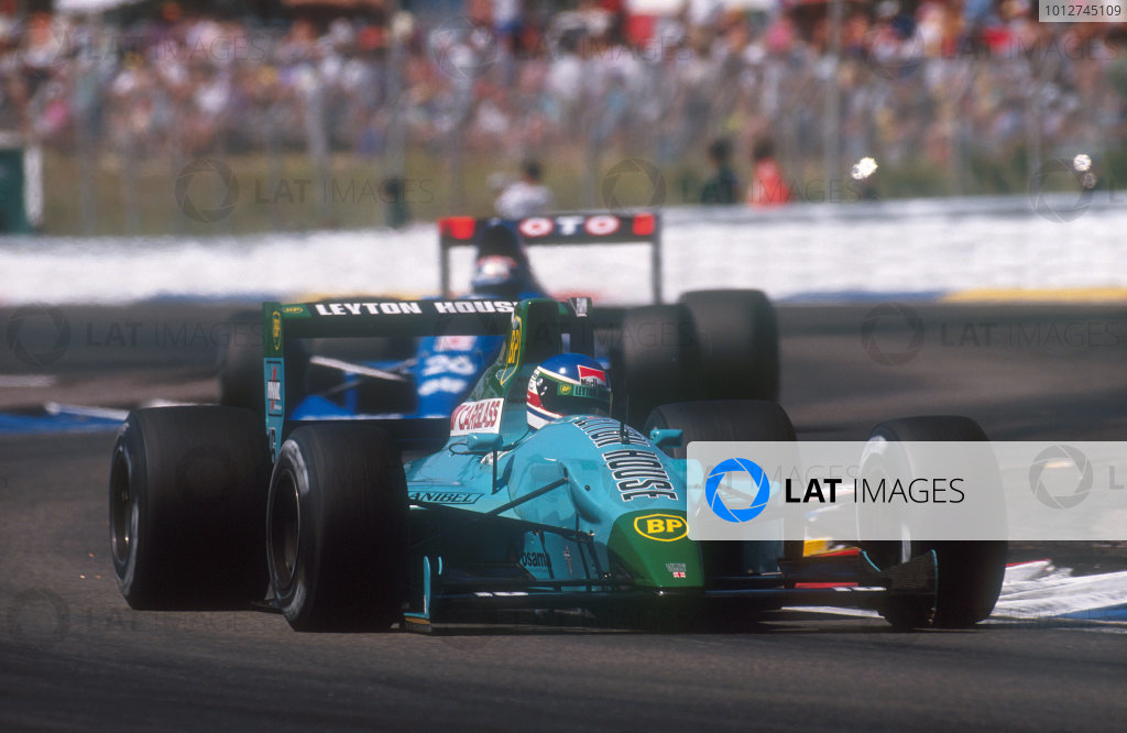 1990 French Grand Prix.Paul Ricard, Le Castellet, France. 6-8 July 1990.Ivan Capelli (Leyton House CG901 Judd) 2nd position. Ref-90 FRA 22.World Copyright - LAT Photographic