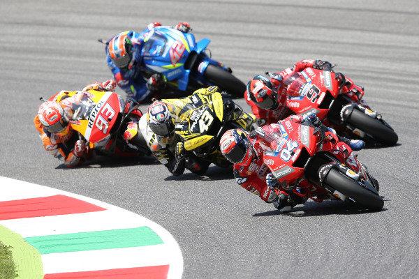 Danilo Petrucci, Ducati Team, Andrea Dovizioso, Ducati Team, Jack Miller, Pramac Racing, Rins & Marc Marquez, Repsol Honda Team MotoGP.