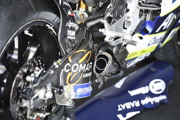Avintia Ducati, exhaust.