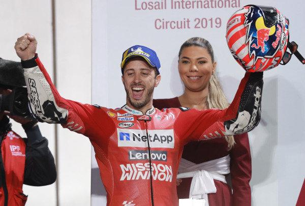 Podium: Race winner Andrea Dovizioso, Ducati Team.