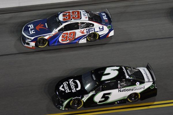 #5: Kyle Larson, Hendrick Motorsports, Chevrolet Camaro NationsGuard #99: Daniel Suarez, TrackHouse Racing, Chevrolet Camaro iFly