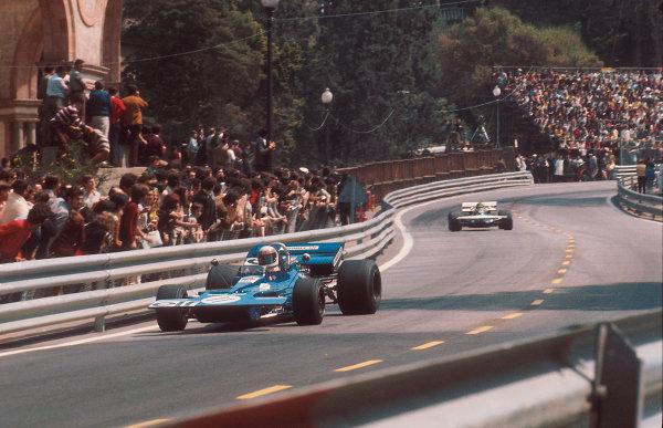1971 Spanish Grand Prix.Monjuich Park, Barcelona, Spain.16-18 April 1971.Jackie Stewart (Tyrrell 003 Ford) 1st position.Ref-71 ESP 06.World Copyright - LAT Photographic