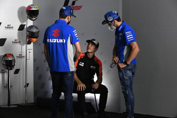 Alex Rins, Team Suzuki MotoGP, Maverick Vinales, Aprilia Racing Team Gresini, Joan Mir, Team Suzuki MotoGP
