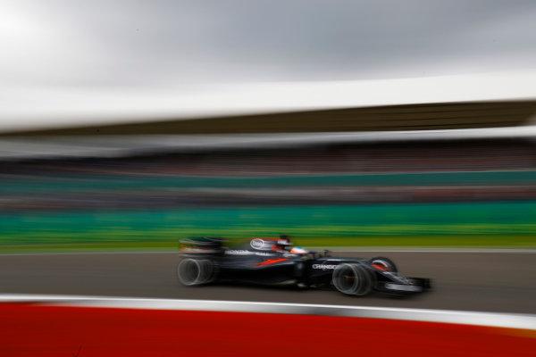 Silverstone, Northamptonshire, UK Friday 08 July 2016. Fernando Alonso, McLaren MP4-31 Honda.  World Copyright: Steven Tee/LAT Photographic ref: Digital Image _H7I5492