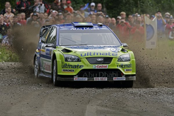 2007 FIA World Rally Champs. Round nineRally Finland.2nd-5th August 2007.Mikko Hirvonen, Ford, action.World Copyright: McKlein/LAT