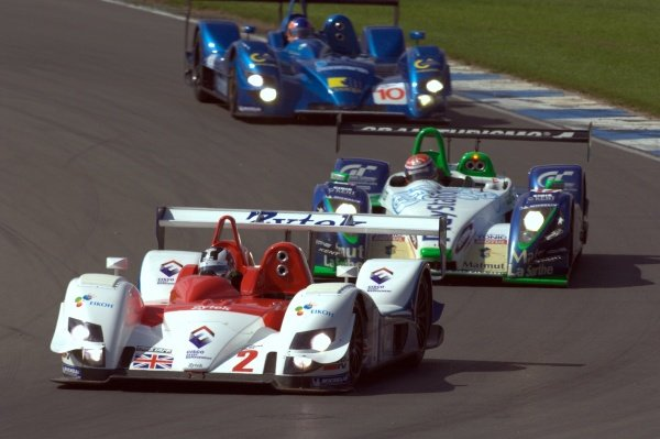 Hideki Noda (JPN) Zytek Engineering Zytek 06S leads Jean-Chrisophe Boullion (FRA) Pescarolo Sport Pescarolo C60 Judd and Nicolas Minassian (FRA) Creation Autosportif Creation CA06/H.