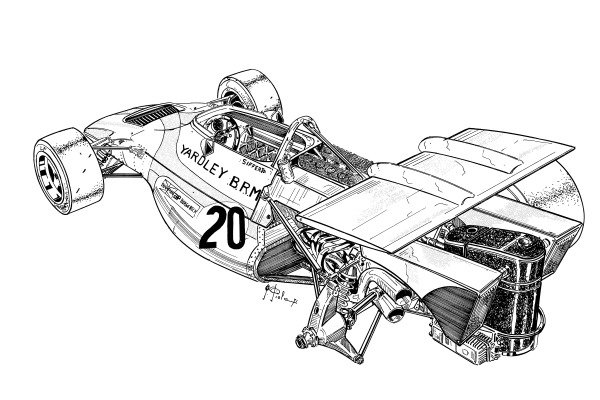 BRM P153 1971 rear-end overview