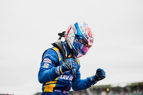 2017 FIA Formula 2 Round 6. Silverstone, Northamptonshire, UK. Sunday 16 July 2017. Nicholas Latifi (CAN, DAMS).  Photo: Zak Mauger/FIA Formula 2. ref: Digital Image _56I0663